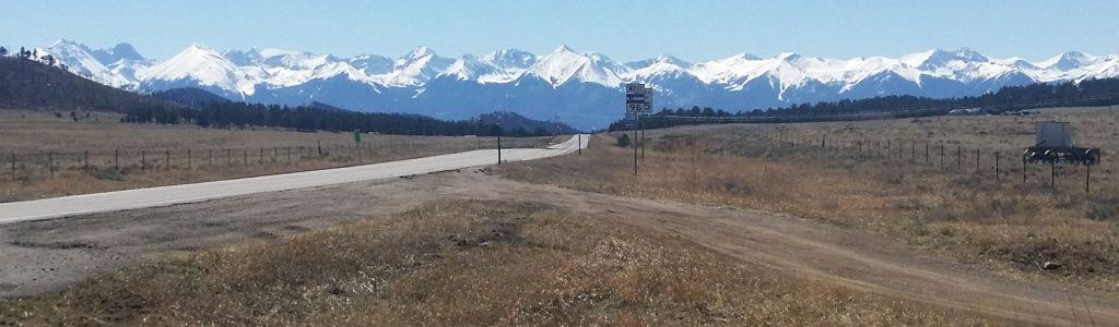 Highway 96 in Custer County, Colorado