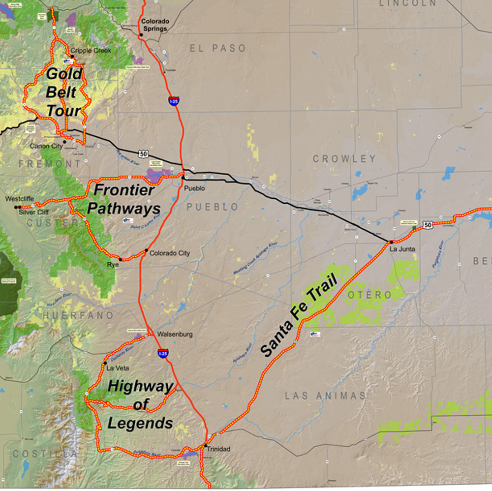 South Central Byways Map